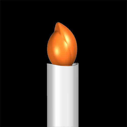 SafeFlame LED Taper Candle | Classic Amber