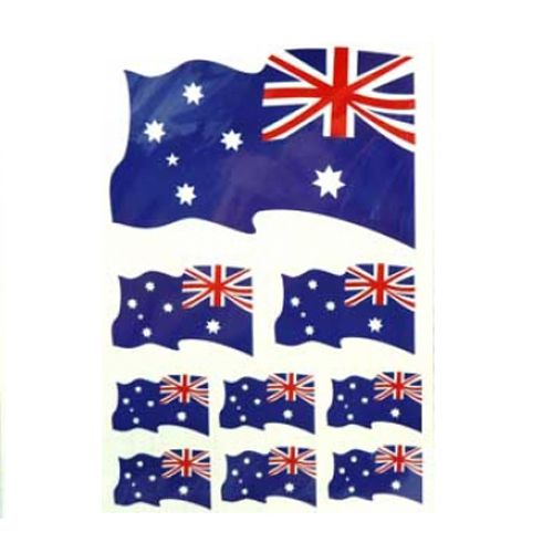 SafeFlame™ Australia Flag Temporary Tattoos