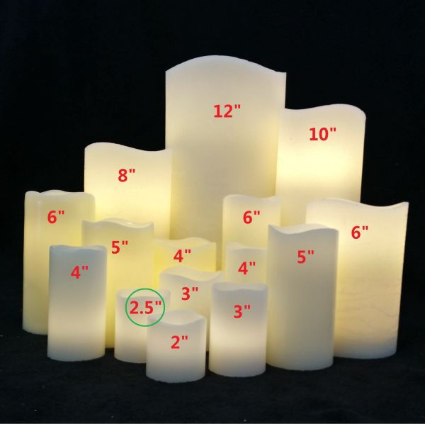 Small Wax Pillar Warm White