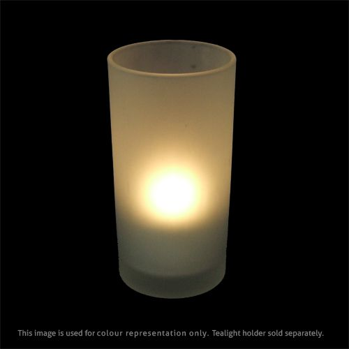 SafeFlame™ LED Tealights: Rechargeable 12pcs set