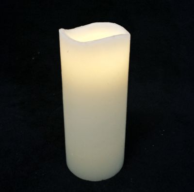 Extra Large Wax Pillar Warm White